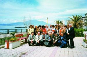 1995-96: Rotariani del Club gemello di Melfi a Castellammare con il Presidente Antonio Vozza