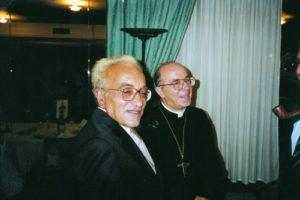 1998-99: Il Presidente Ugo Criscuolo con l'Arcivescovo Mons. Felice Cece