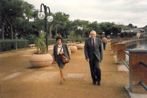 1994-95: Il Presidente De Rosa durante la visita a Baia