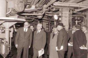 1962-63: Visita dei soci allo stabilimento della Lepetit