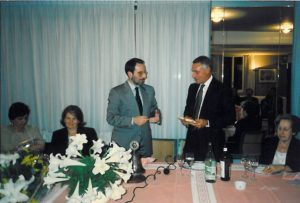 1996-97: Il Presidente Quartuccio con l'avv. Antonio Cascone