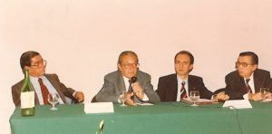 1993-94: I relatori dell'interclub dott. Enrico Valanzuolo, dott. Modesto Caputo, dott. Luigi Pentangelo, avv. Giuseppe Di Rienzo