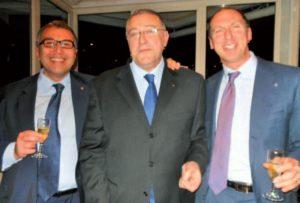 2015-16: Assemblea dei Soci: il Presidente eletto Giulio Clemente con l'incoming Raffaele Aruta e Paolo Cascone