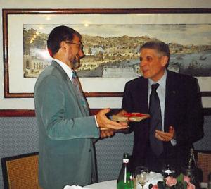 1999-00: Il Presidente Amato con il Prof. Matteo Palumbo
