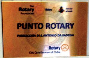 2015-16: Targa commemorativa dell'allestimento dell'Aula informatica presso il Punto Rotary della Parrocchia di Sant'Antonio