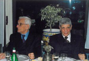 1999-00: Il Presidente Guido Amato con il Rettore Prof. Antonio Grella