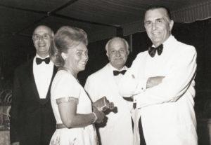 1974-75: Il Presidente Salvatore De Martino con la Sig.ra Ornella