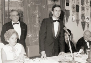 1969-70: Il primo Presidente del Rotaract Giovanni de la Ville sur Illon con l'ing. Ugo Sbrana