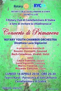 2017-18: Locandina del 'Concerto di Primavera'