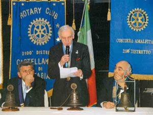 2004-05: L'intervento del Presidente Emilio Talarico alla Festa del Centenario a Sorrento
