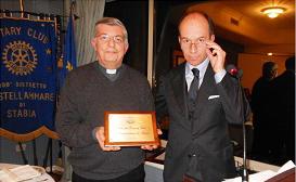 2011-12: Progetto Chiesa del San Marco – Il Presidente con il Parroco don Franco De Pasquale