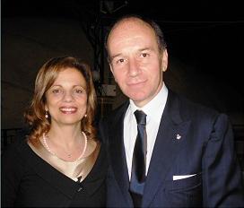 2011-12: Il Presidente e la moglie alla manifestazione 'Trofeo dei 4 castelli'