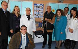2011-12: Donazione dello spirometro al Reparto di Pediatria dell'Ospedale S. Leonardo