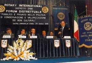 1997-98: Forum distrettuale 'Pubblico e privato nella politica dei Beni Culturali'