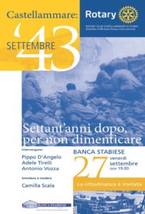 2013-14: La locandina della manifestazione 'Castellammare, settembre '43 – Settant'anni dopo, per non dimenticare'