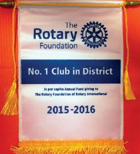 Il Club si classifica al 1° posto nel Distretto per la contribuzione pro-capite alla Rotary Foundation
