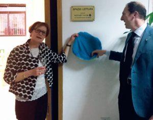 2015-16: Inaugurazione della biblioteca allestita dal Club presso l'Istituto Luigi Denza