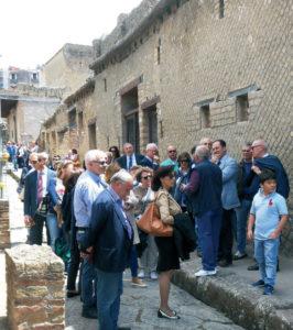 2014-15: I soci in visita agli Scavi di Ercolano