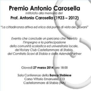 2013-14: La locandina del Premio Antonio Carosella