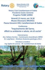 2017-18: Locandina del Convegno su 'Inquinamento del Sarno'