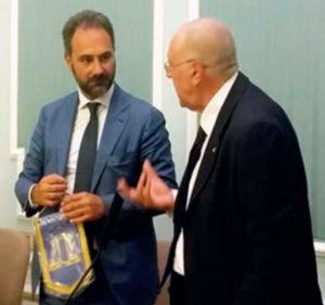 2017-18: Il Presidente con il dott. Catello Maresca al Convegno sulle 'Devianze giovanili'