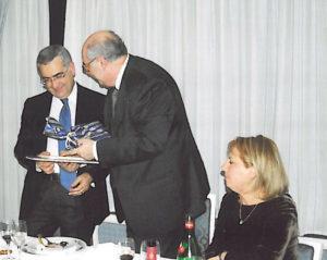 2006-07: Il Presidente Centonze con il sindaco on. Salvatore Vozza