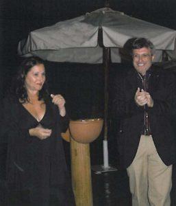 2007-08: Il Presidente Guida con l'artista Anna Spagnuolo a una 'bagnata' Festa del Mare