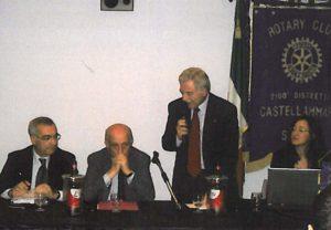 2008-09: Il Presidente Egidio Di Lorenzo con il Sindaco Vozza e il gen. Jucci