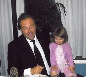 2007-08: L'attore Sebastiano Somma con la figlioletta