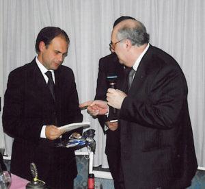 2006-07: Il Presidente Centonze con l'ass. dott. Massimo De Angelis