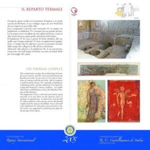 2004-05 : Uno dei pannelli didattici donati dal Club agli Scavi di Stabiae in occasione del Cinquantenario