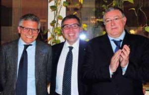 Assemblea dei Soci: il Presidente eletto Francesco Di Somma con l'incoming Giulio Clemente e Raffaele Aruta