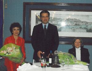 2003-04: Il Presidente Lauro con l'arch. Enrica Luise Vozza