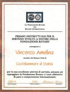 2010-2011: Premio al Presidente Amelina per il servizio a favore della Rotary Foundation