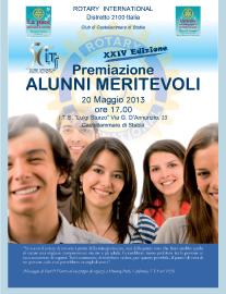 2012-13: La locandina della XXIV edizione del Premio Alunni Meritevoli