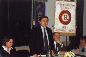 2000-01: Il Presidente Santoro all'incontro con i giovani del Rotaract