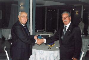 2004-05: Il Governatore Sandro Marotta con il past Governor Antonio Carosella
