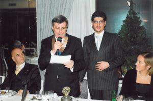 2007-08: Il Presidente Guida con il borsista della Rotary Foundation dott. Cristian Gragnaniello