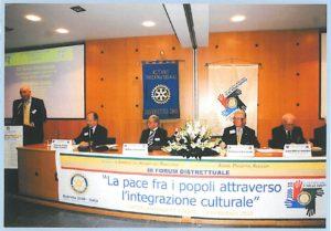 2009-10: Forum distrettuale C.mare St. su: 'La pace fra i popoli attraverso l'integrazione culturale