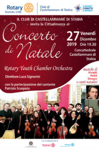 2019-20: Il concerto di Natale della Rotary Youth Chamber Orchestra in Cattedrale